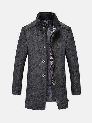 2 в 1 съемный жилет шерстяное пальто