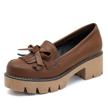 Oxford Leather shoes Tassels Loafers