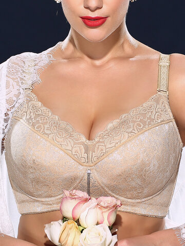 Plus Size Lace Embroidered Bras