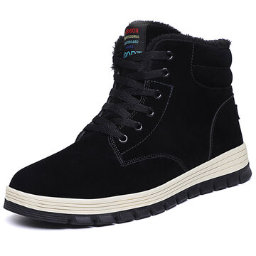 Men Warm Lining Casual Leather Boots