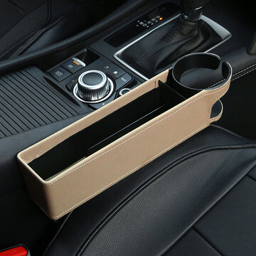 Adjustable Leather Car Seat Gap Holder