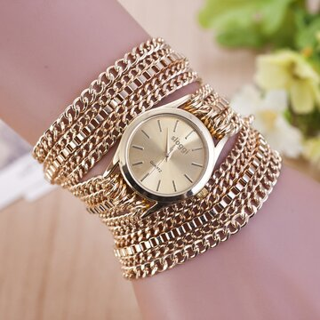 Trendy Mental Winding Chain Watch