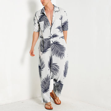 Hawaii Beach Print Jumpsuits Loungewear