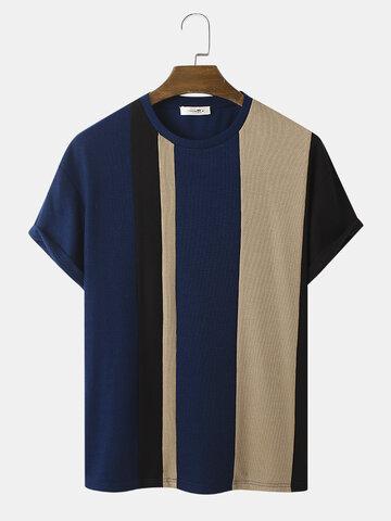 Camiseta de punto con costuras en contraste