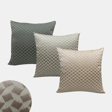 Nordic Sofa Pillow Simple Polyester Cotton Square Cushion Bedroom Living Room Cushion Cover