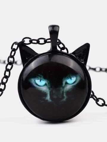 Black Cat Printed Necklace