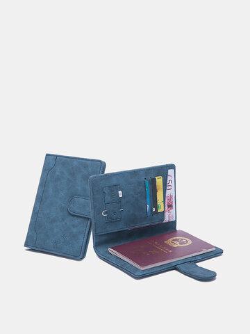 RIFD PU Leather Multifunctional 4 Card Slots Money Clip SIM Card Wallet Purse