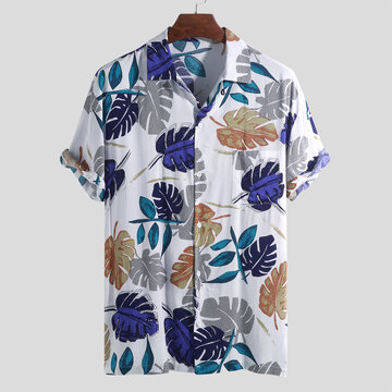 Mens Hawaiian Holiday Floral Printed Shirts