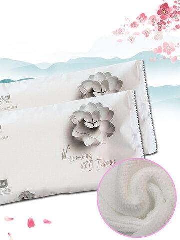 Toalhetes de limpeza descartáveis para viagens em hotéis Soft Delicate Cotton Wet Toalha Wet Tissues Cuidados com a pele do bebê
