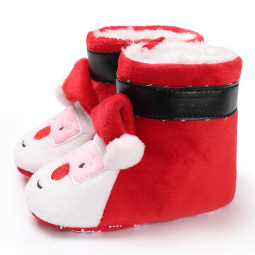 Baby Toddler Shoes Cute Christmas Snow Boots