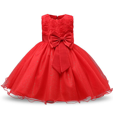 Flower Girl Princess Dress For 3M-12Y