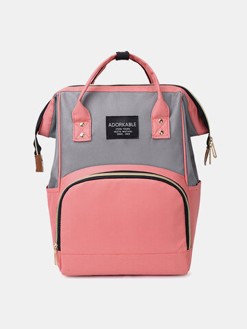 Women Canvas Casual Mummy And Kids  Patchwork Backpack