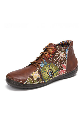 Retro Folkways Craft Cloth Boots