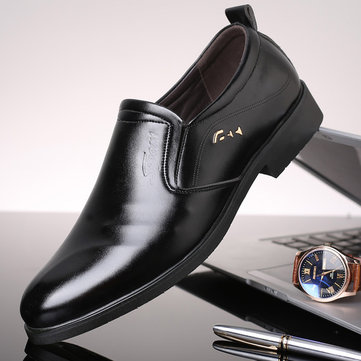 أحذية جلدية للرجال عدم الانزلاق الأعمال الرسمية