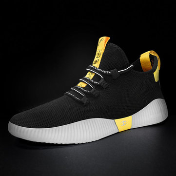 Shoes Men's Tide Shoes Season New Flying Woven Sets Of Feet Shoes Trend Of Breathable Mesh Sports Shoes Men