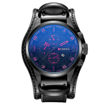 CURREN Calendar Military Watches