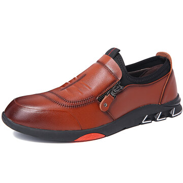 Homens Non-slip Soft Casual Leather Shoes