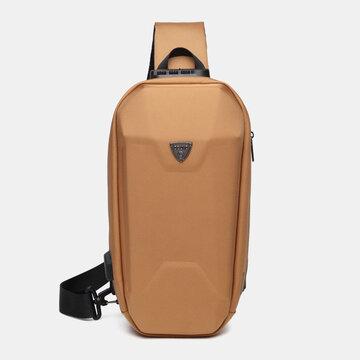 USB شحن متعدد الجيوب المضادة للسرقة ضد للماء في الهواء الطلق حقيبة كروسبودي حقيبة الصدر حقيبة حبال