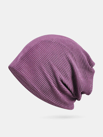 Thin Beanie Hat Solid Color Mesh Breathable HairBand Scarf Multifunctional