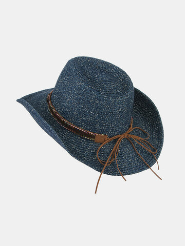 Breathable UV Protection Straw Hat Wide Brim Bucket Hats