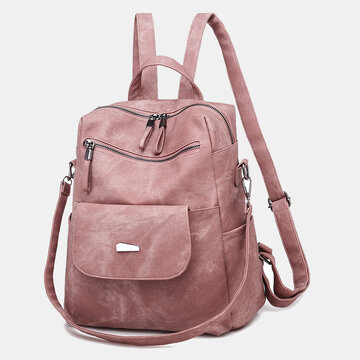 Casual Solid Backpack