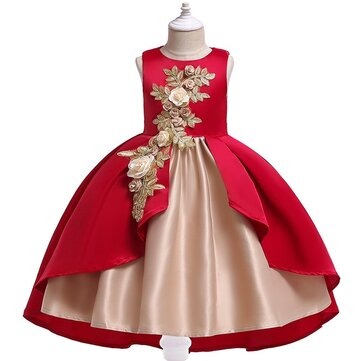 Flower Girls Fancy Vestido para 3Y-13Y