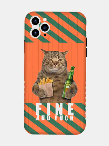 Women&Men Cute Cat Cartoon Pattern Personality  Phone Case