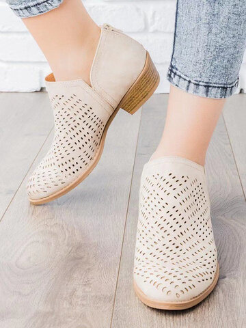 Large Size Casual Summer Ankle Boots