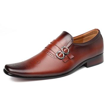 Chaussures habillées élégantes à bout carré pour hommes