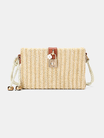Women Straw Crossbody Bag