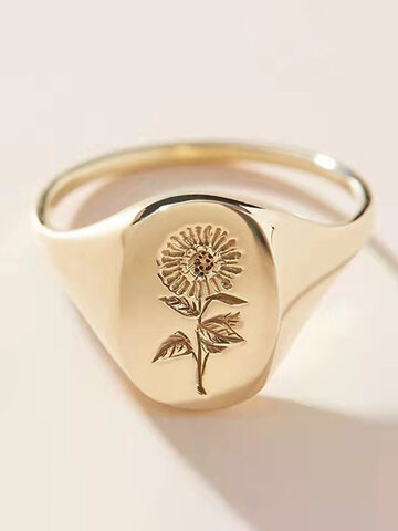 Sunflower Pattern Ring