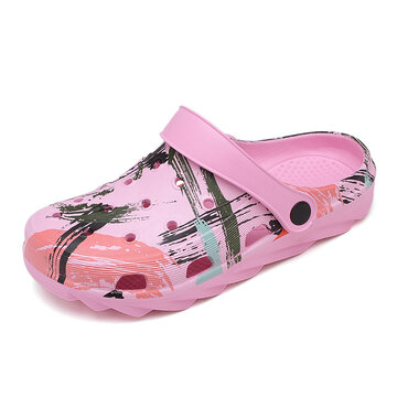 Unisex 2 in 1 Lightweight Irregular Pattern Mules Clogs
