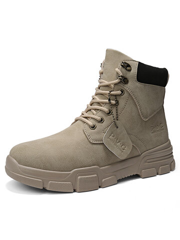Men Stylish Warm Lined Tooling Boots