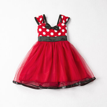 Dot Sleeveless Girls Tulle Dresses For 0-36M