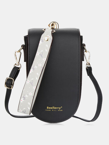Flap 6.8 Inch Phone Bag With Wrist Band