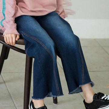 Girls Wide Leg Flare Jeans For 4Y-15Y