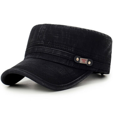Mens Sunshade Cotton Flat Top Caps