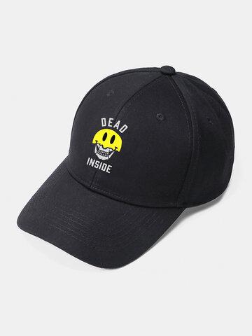 Unisex Skull Smile Face Baseball Hat
