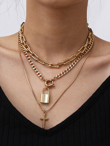 Lock Pendant Necklace