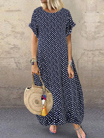 Polka Dot Imprimir Maxi Dress
