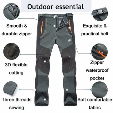 Mens Outdoor Waterproof Quick-Dry Sport Pants