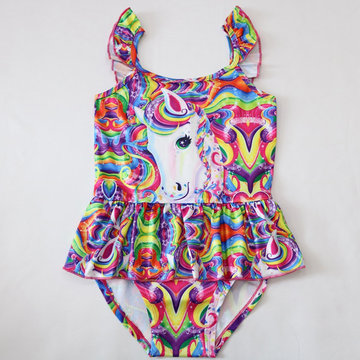 Girls Unicorn Colorful Swimsuit For 3-11Y