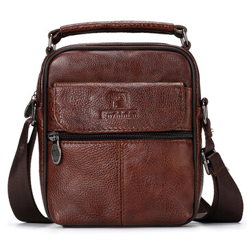 Men Travel Genuine Leather Messenger Bag