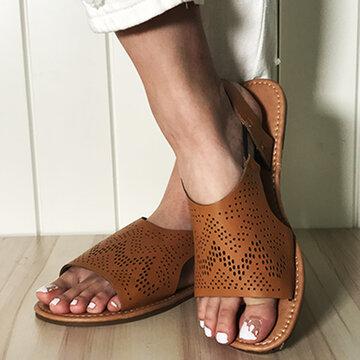 Sandali piatti antiscivolo comodi e vuoti