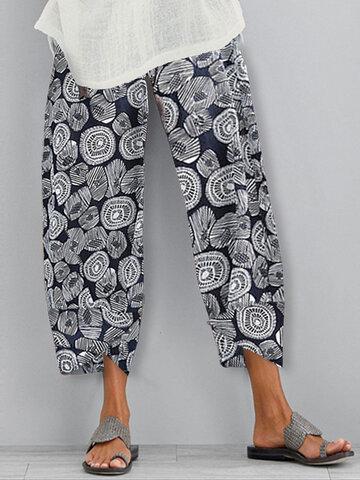 newchic / Print Elastic Waist Pant