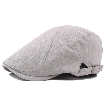 Adjustable Thin Cotton Beret Cap Breathable Duck Forward Hat