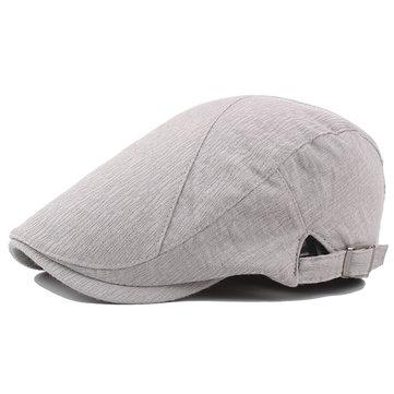 Gorro ajustable de boina de algodón Sombrero delantero de pato transpirable