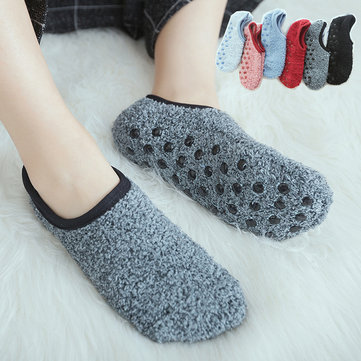 Warm Floor Socks, Black deep gray