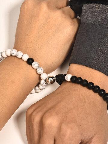 1 Paar Magnet Attract Perlen Paar Armband
