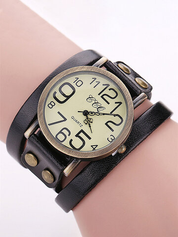 Casual Leather Multilayer Bracelet Watches